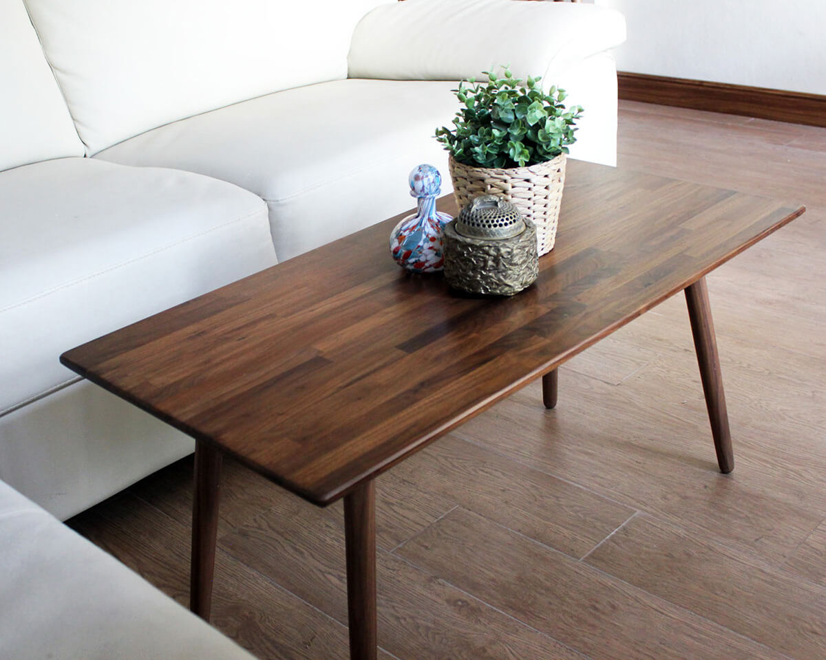 Classic Walnut Table with Sealed Grain