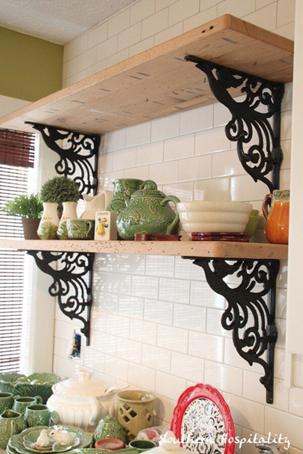 Wrought-Iron Decorative Mounted Shelves