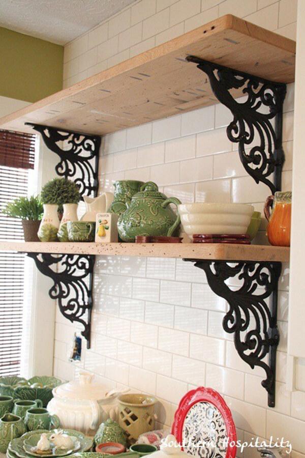 Wrought-Iron Decorative Mounted Shelves