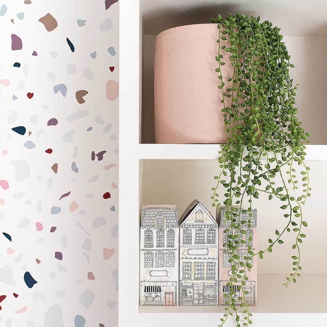 Elegant Pink Pot and Trailing Plant