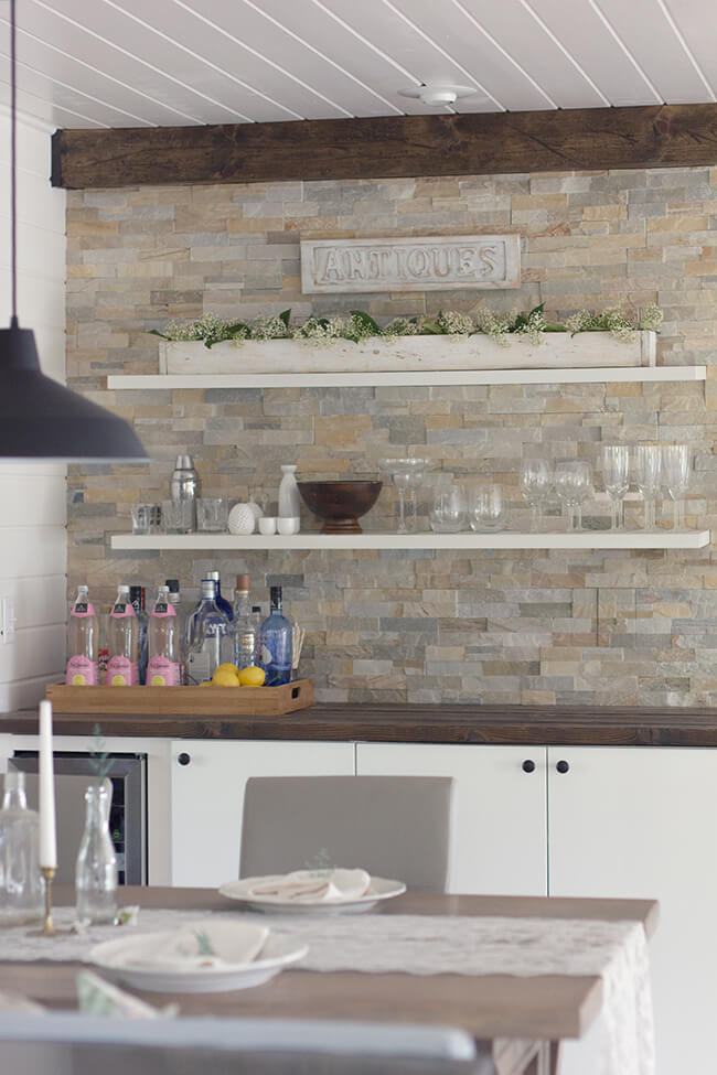 Minimalistic Shelves Blend Right In