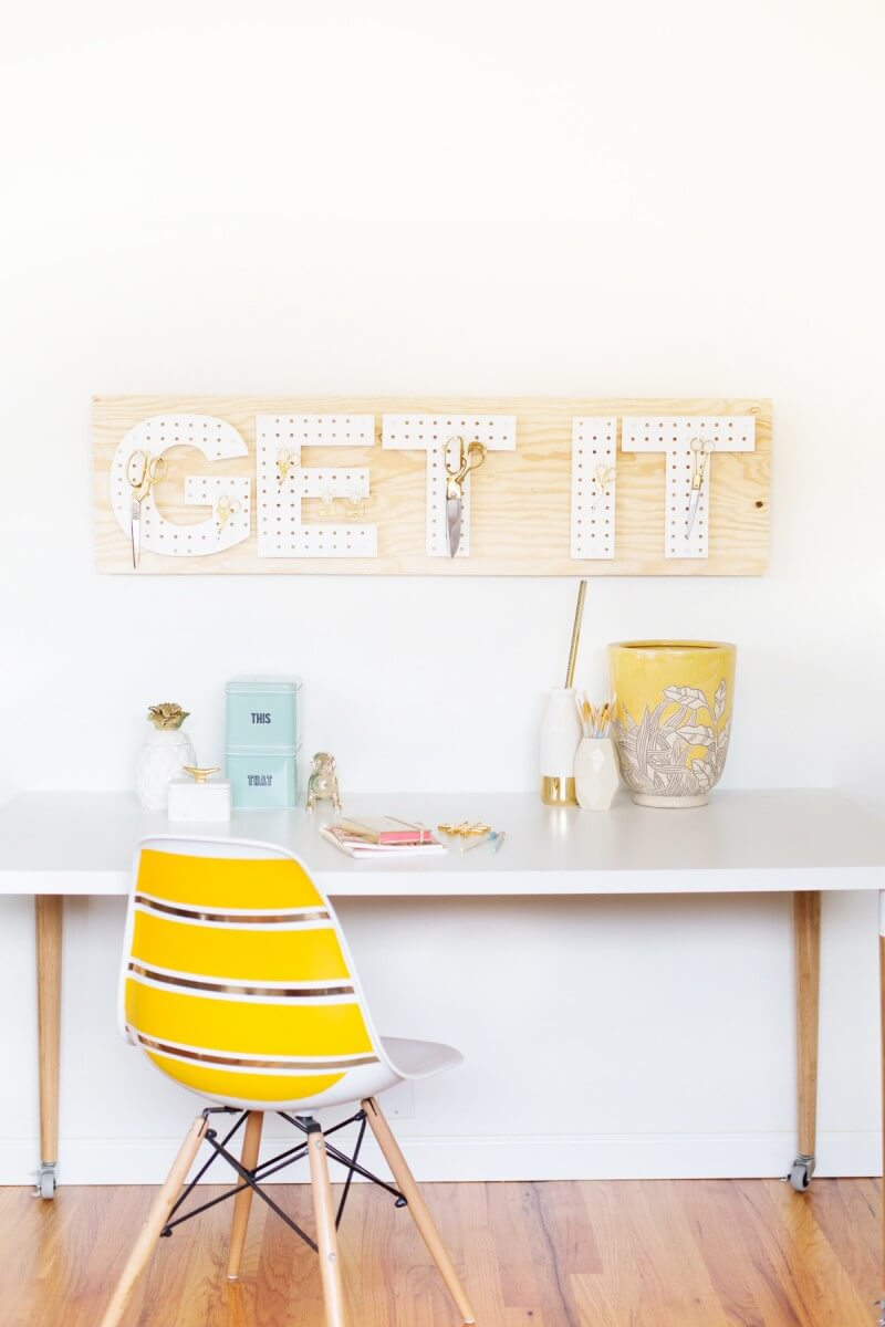 Creating Decor with Pegboard Letters