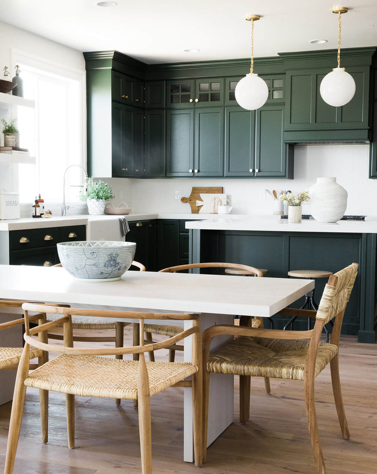 Evoke Life with Green Cabinetry