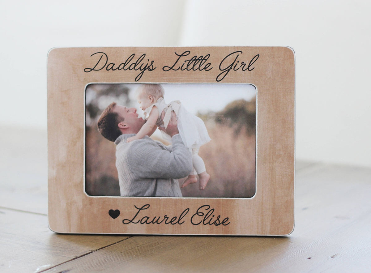 Light Timber Frame for Daddy and Daughter Memories