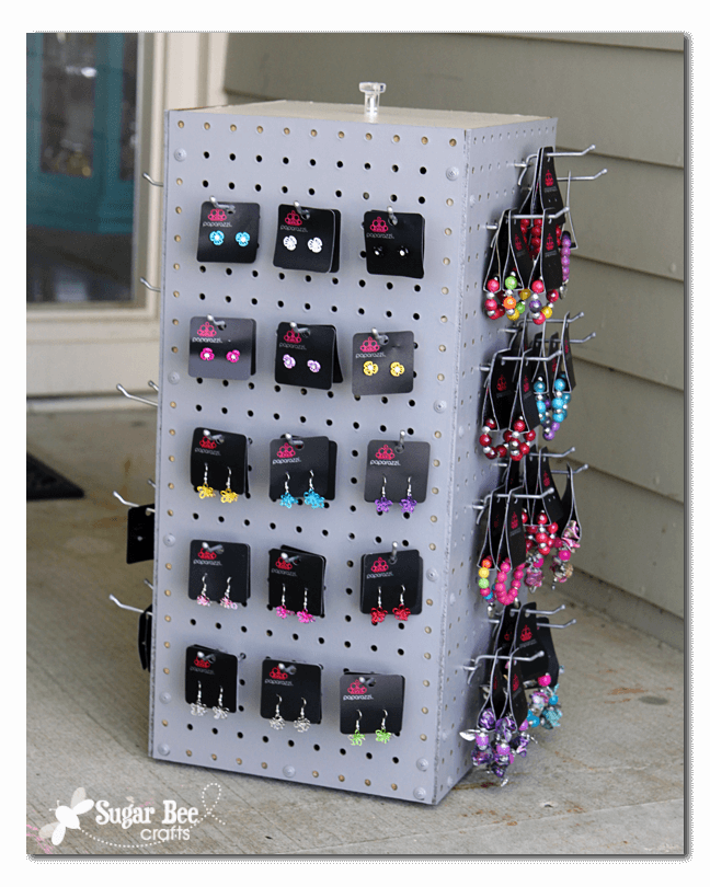 Pegboard Spinning Organizing Jewelry Rack