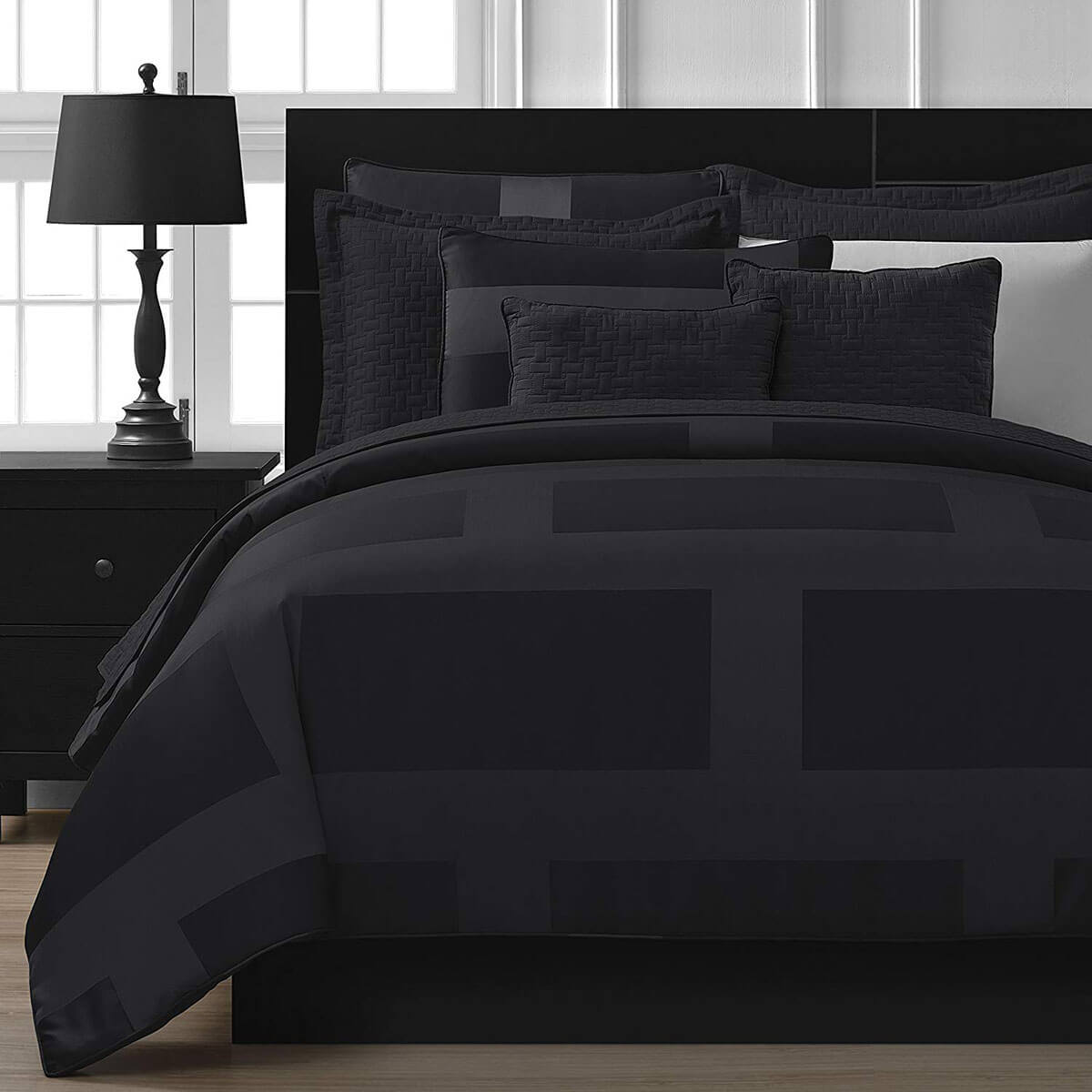 Dark and Dreamy Geometric Five-Piece Bedding