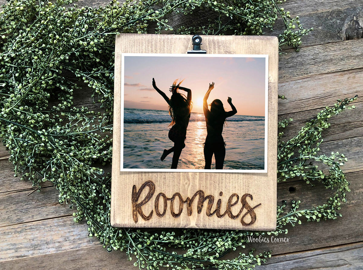 Wood-Burnt Roommate Photo Clip Board