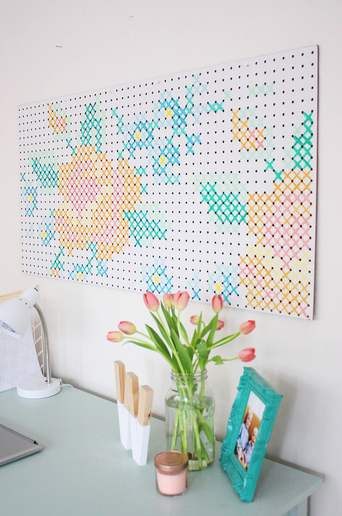 Other Decorative Pegboard Ideas for the Less Artistic