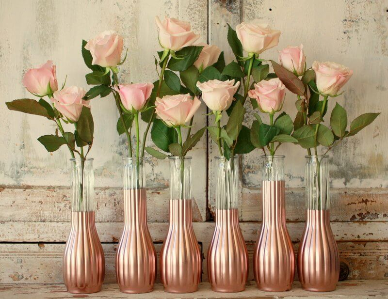 Splendid Pink Roses in Almost Matching Vases
