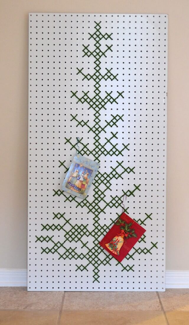 Cross Stitch or Cutout Christmas Tree