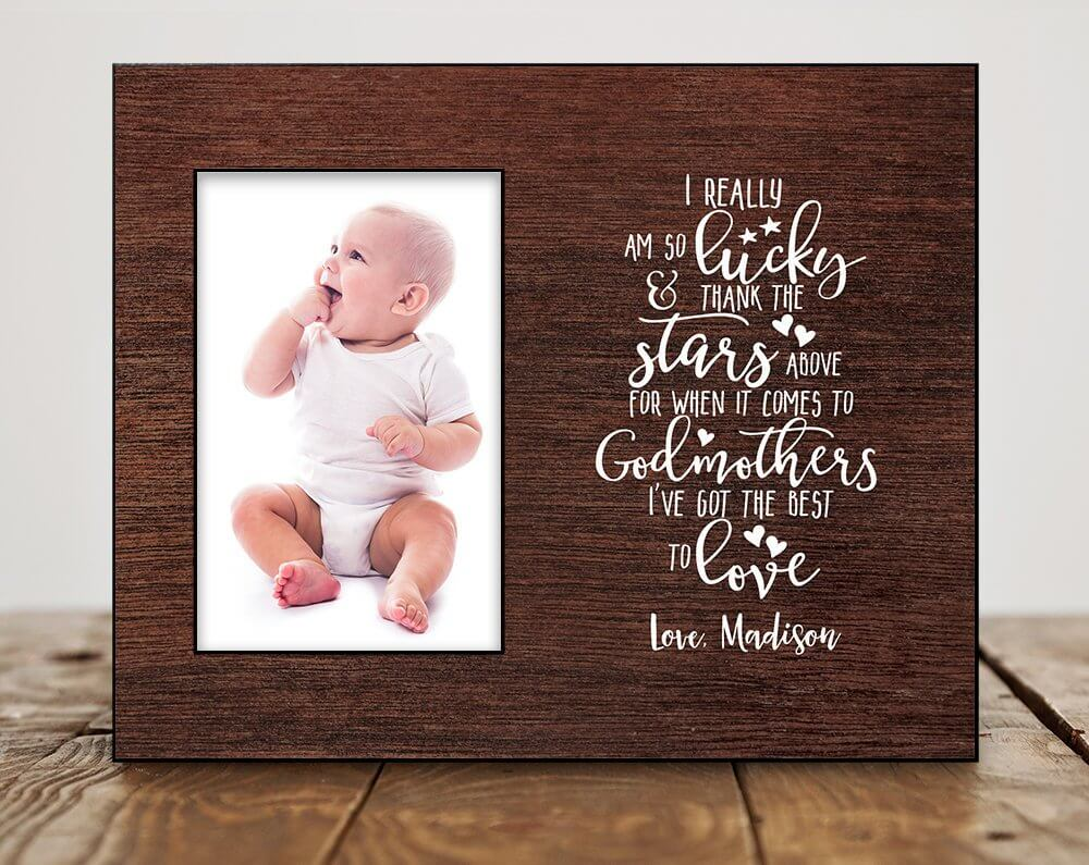 Poem and Photo Display Gift for Godmothers