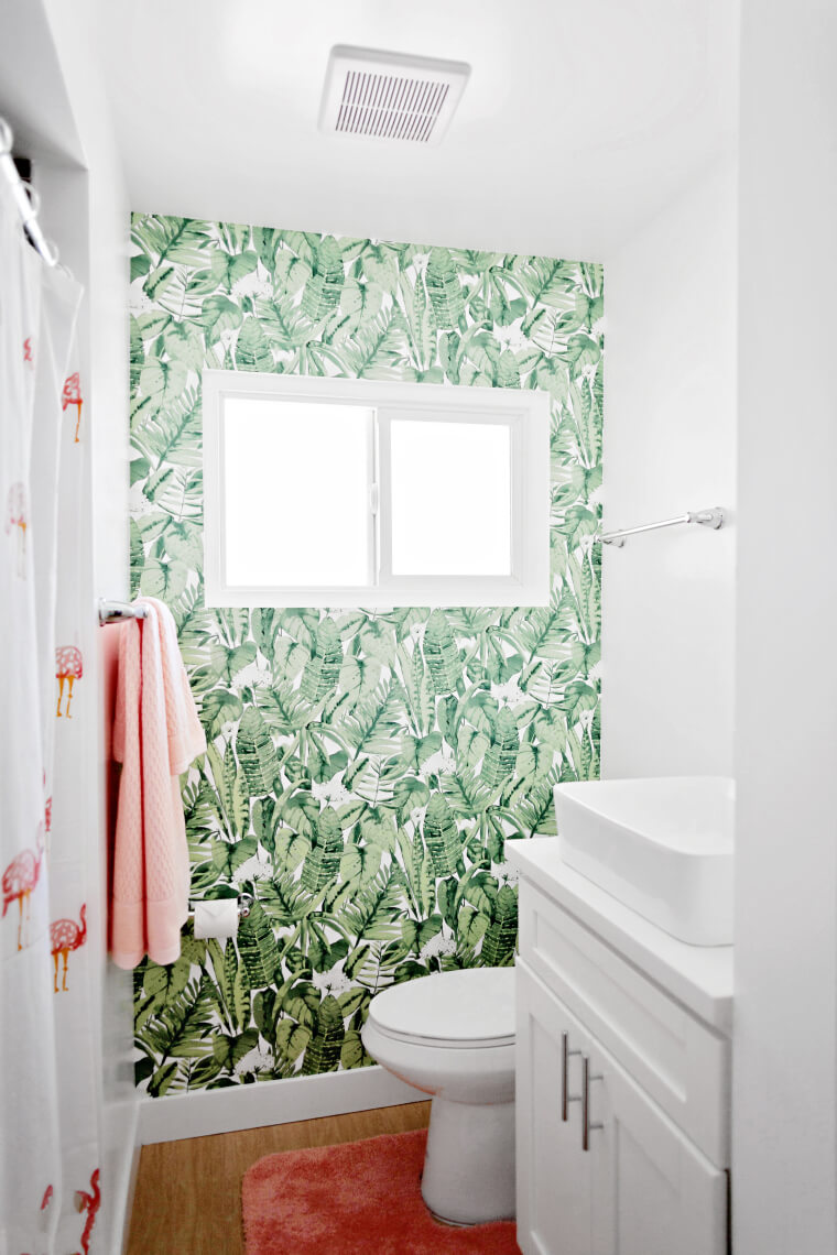 Tropical Palm Leaf Vinyl Wallpaper