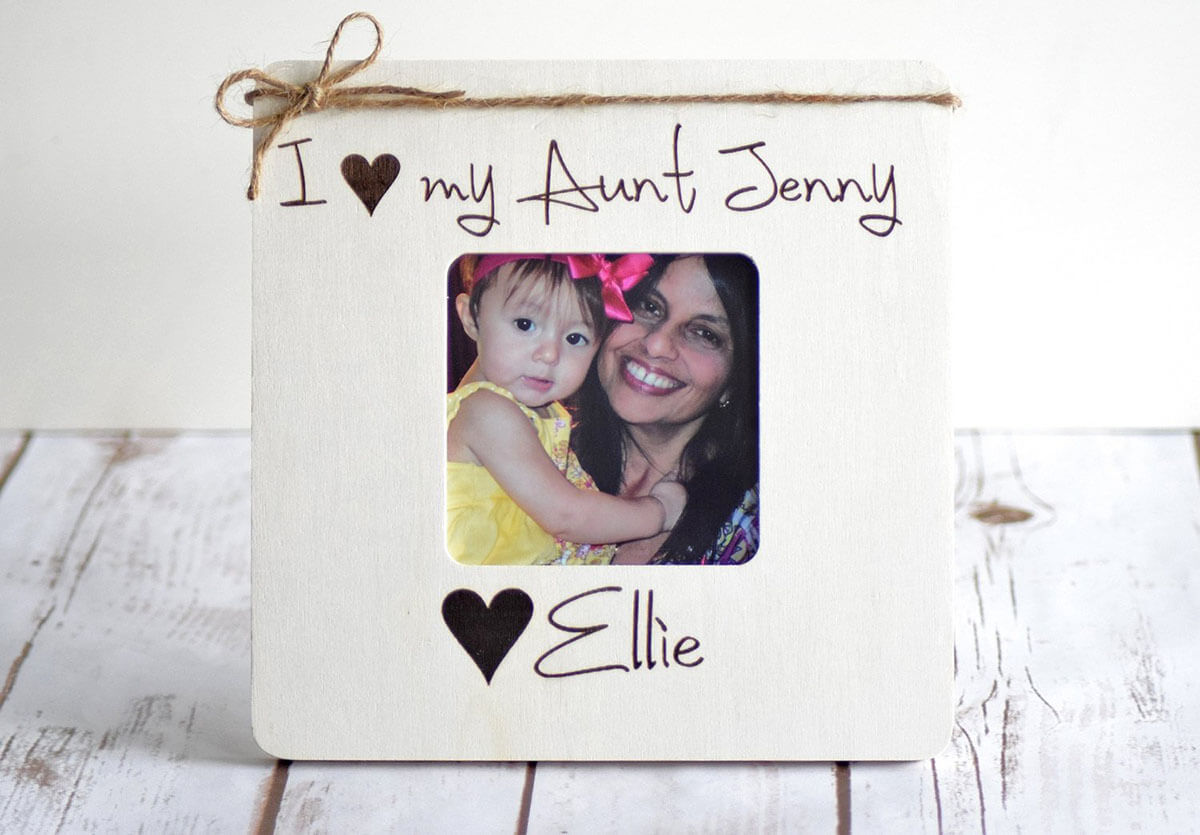 Sweet and Simple Matte Wood Personalized Frame