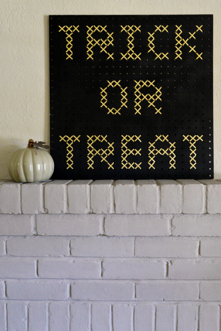 Create Cross-Stitch Pegboard Signs