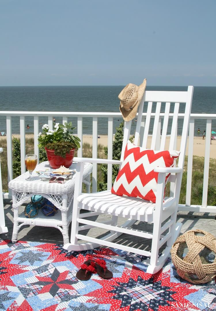 Matching White Classic Beach Furniture