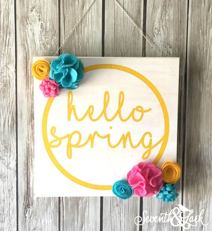 3D Felt Flower Hello Spring