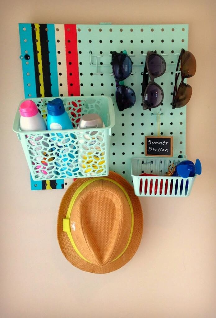 All-weather Pegboard Organizer for the Mudroom