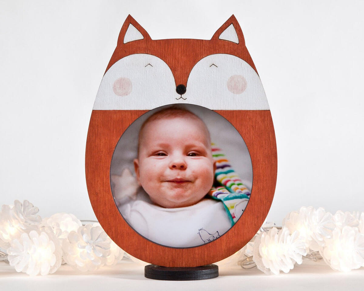 Sweet as can be Baby Fox Frame