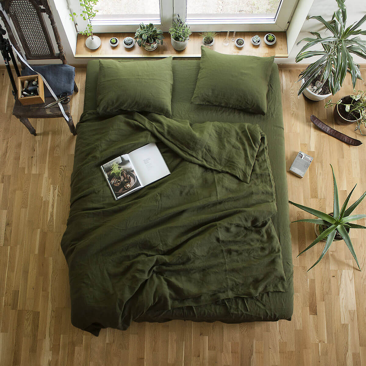 One with Nature in Natural Linen Bedding