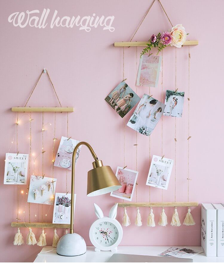 Adorable Strung Fairy Lights Photo Display