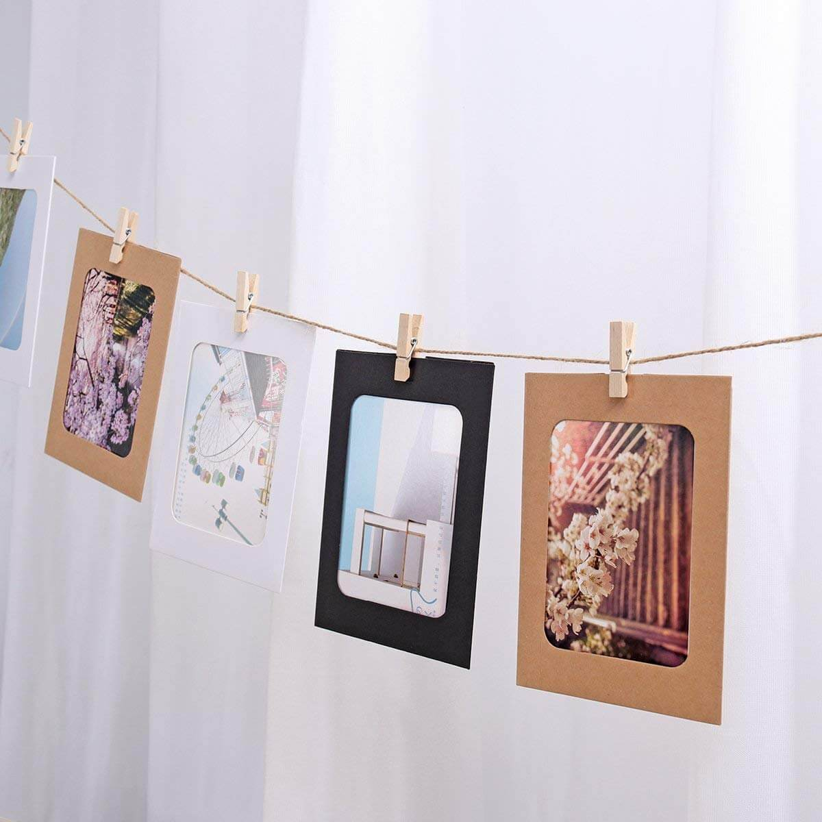 Multi-Colored Paper Frame Clothes Line