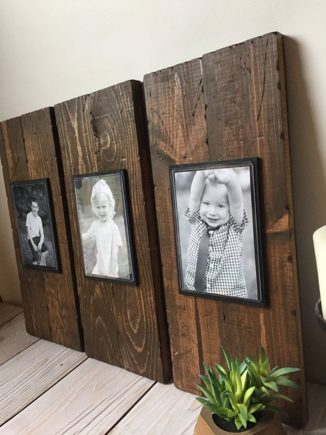 Dark Stained Natural Wooden Frames