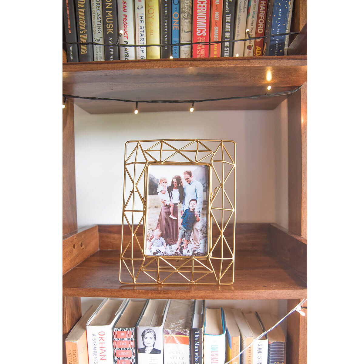 Geometric Art Deco Frame in Gold