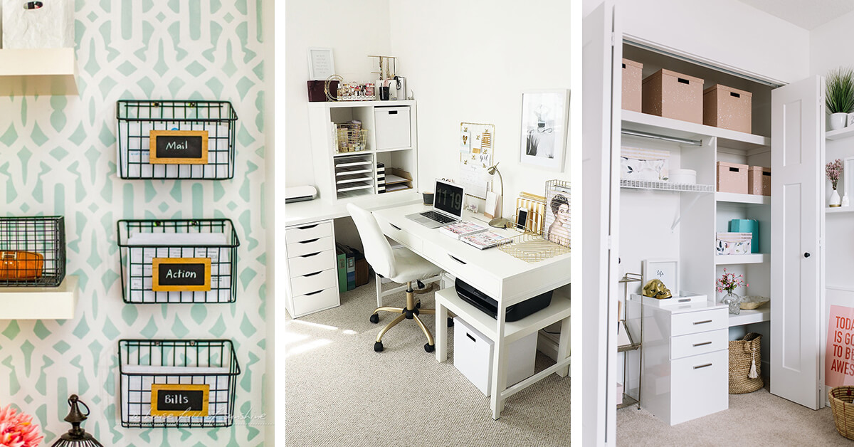 Elegant 14 Genius Home Office Organization Ideas To Create The Perfect Workspace