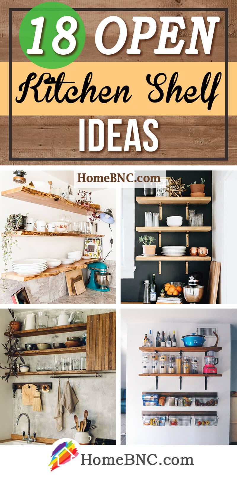 Open Kitchen Shelf Ideas
