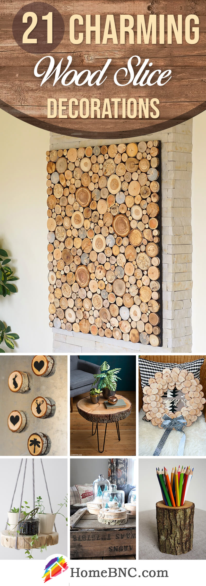 Wood Slice Decorations