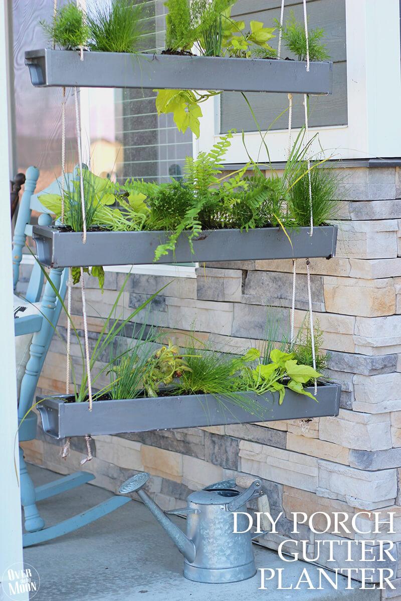 Hanging Gutter Garden Planter