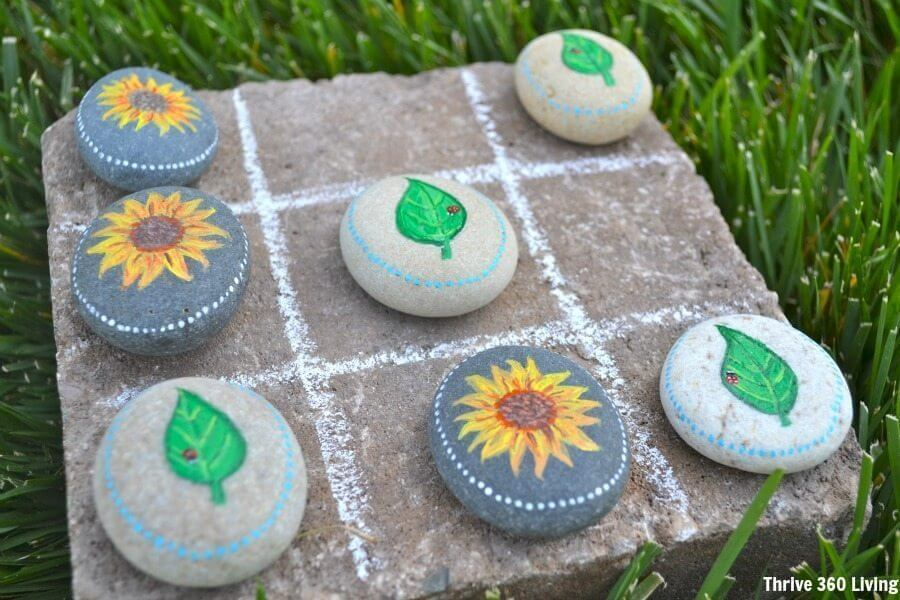 Use Decorated Rocks as Playing Pieces for Games