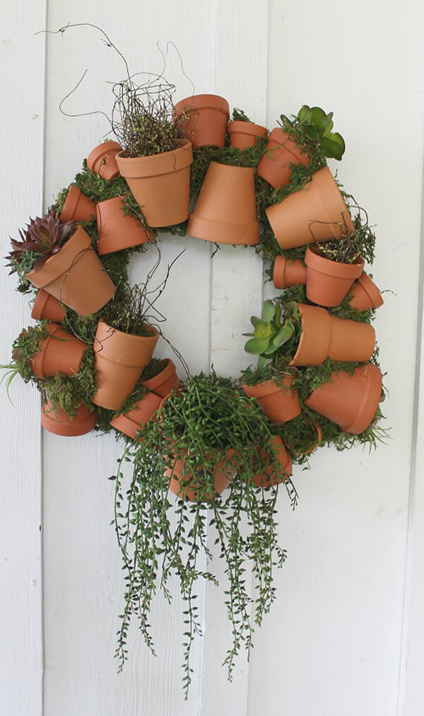 Plant Pot Welcome Wreath