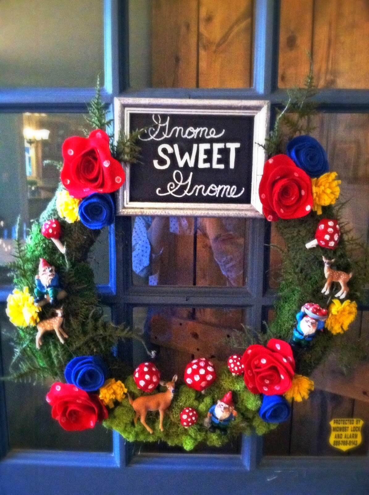 Gnome-Inspired Wreath with Chalkboard Message
