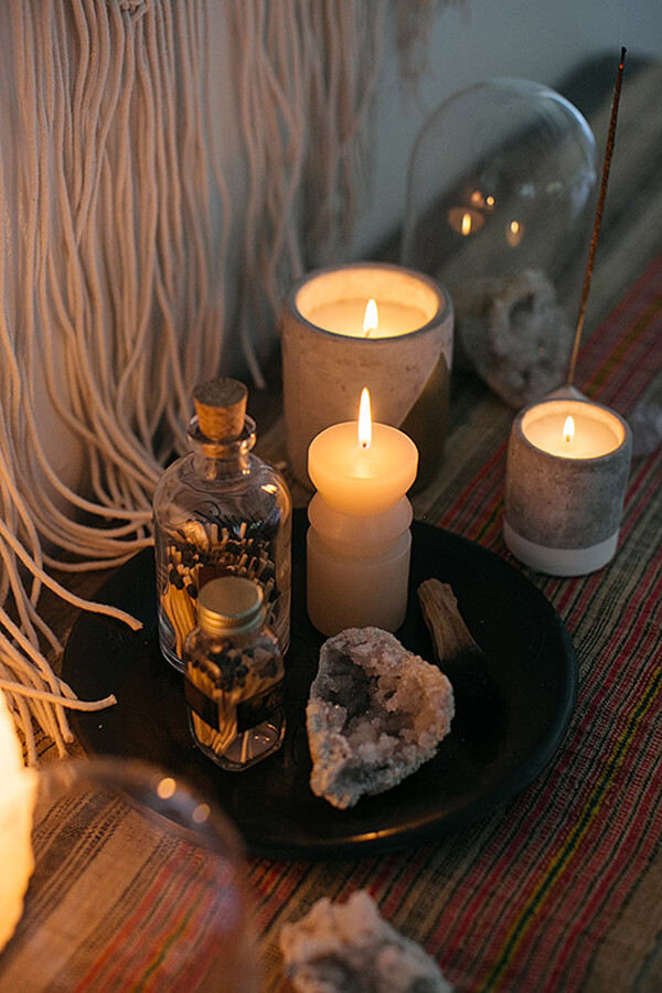 Candles and Focus Crystals