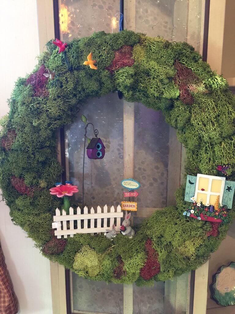 A Mossy Fairy Home Wreath