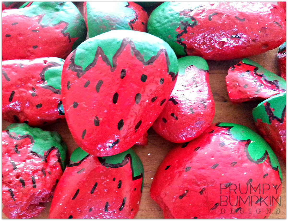 Rock Strawberries for the Birds