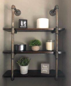 Humorous Wood Block Restroom Signs Homebnc