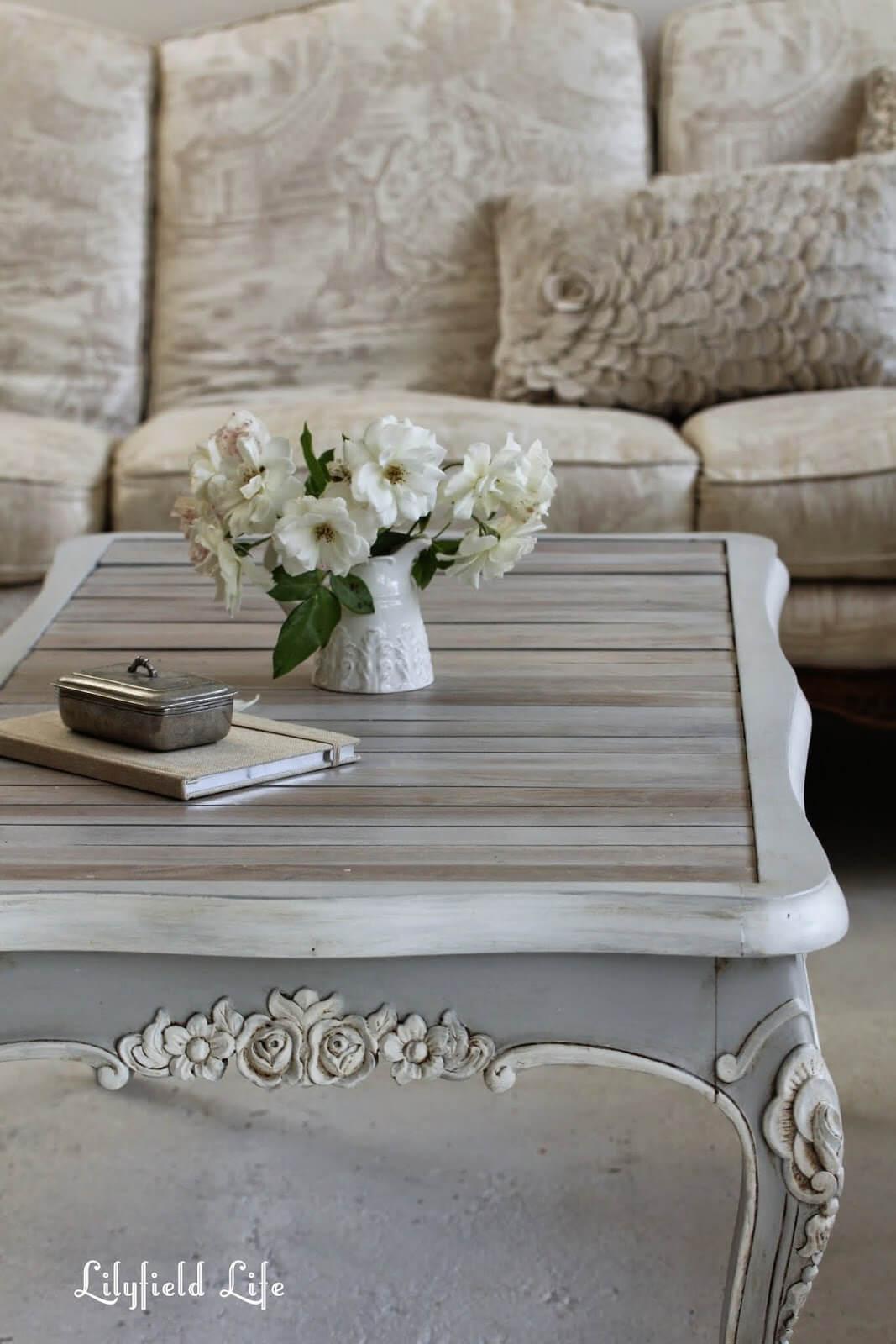 17 Shabby Chic und Vintage Mittelstücke, um Ihrem Tisch Charme zu verleihen