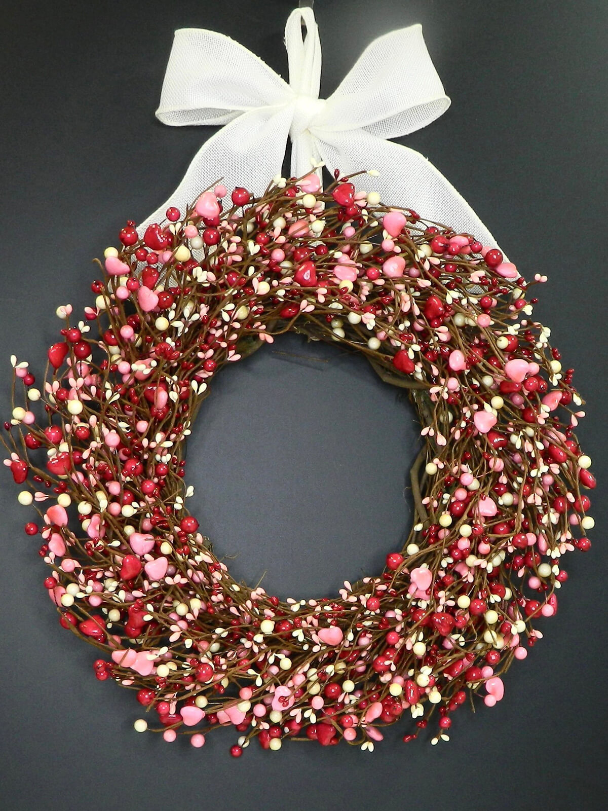 Candy Heart Droplets and Pearls Wreath