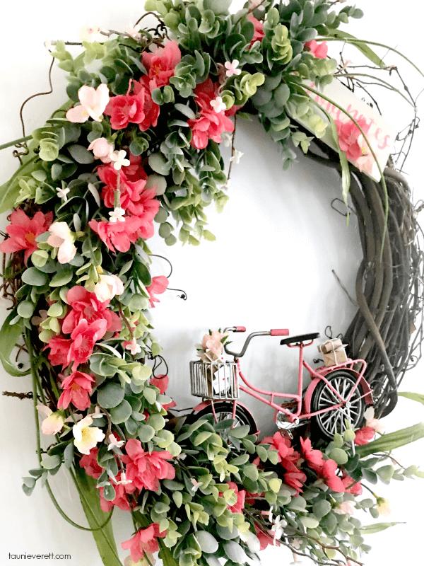 Beautiful Flowers and Playful Bike