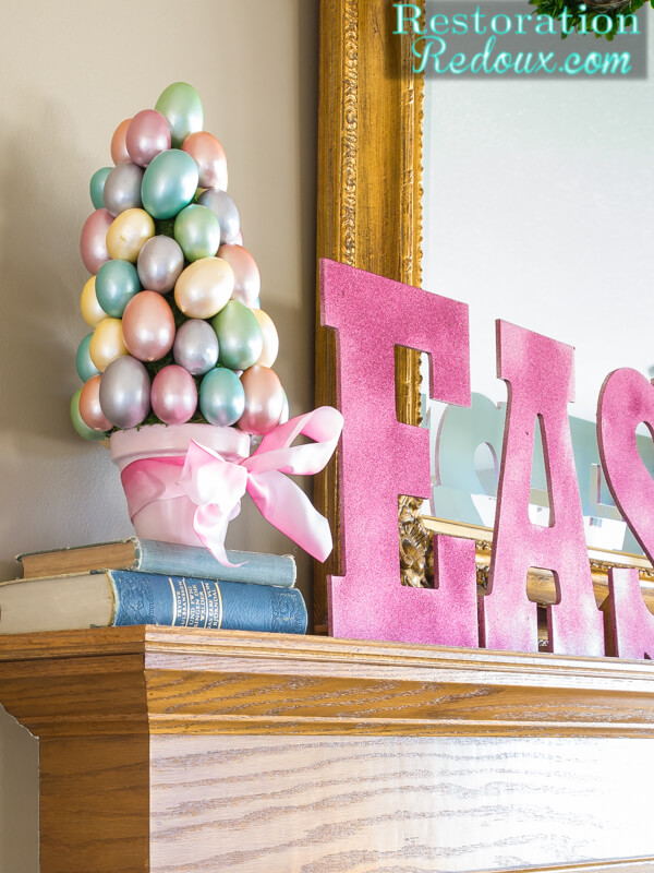 Decorate Your Mantel with a Pretty Pastel Tree
