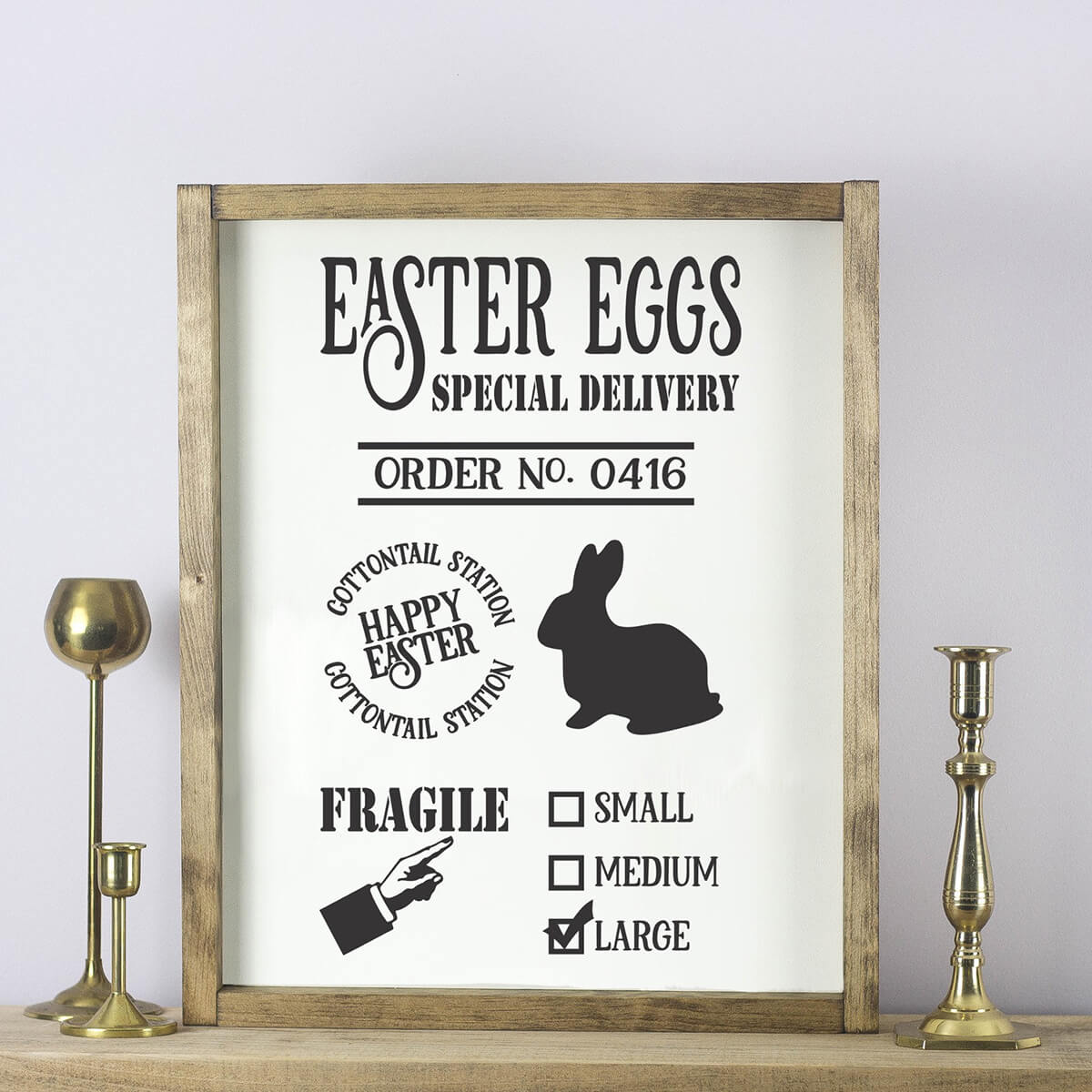 Easter Egg Special Delivery Framed Sign