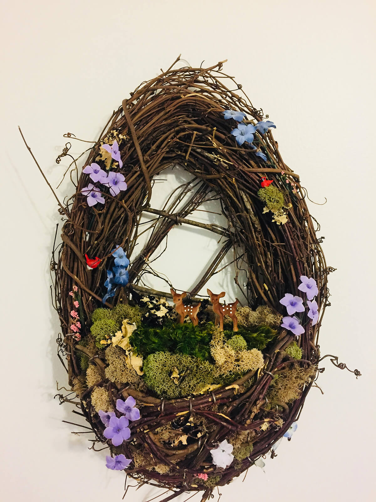 Authentic Wreath with Flowers and Moss