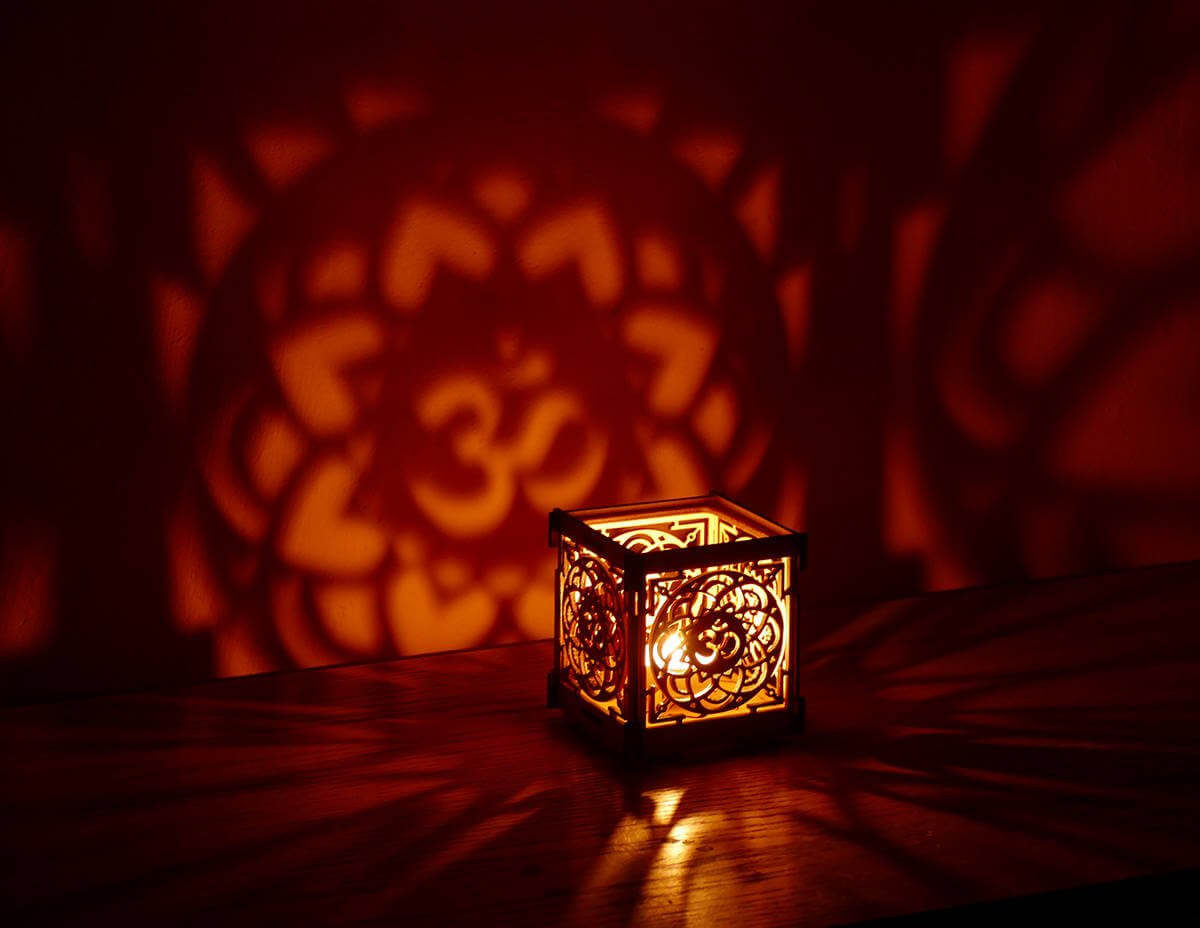 Simple Lantern with Decorative Design