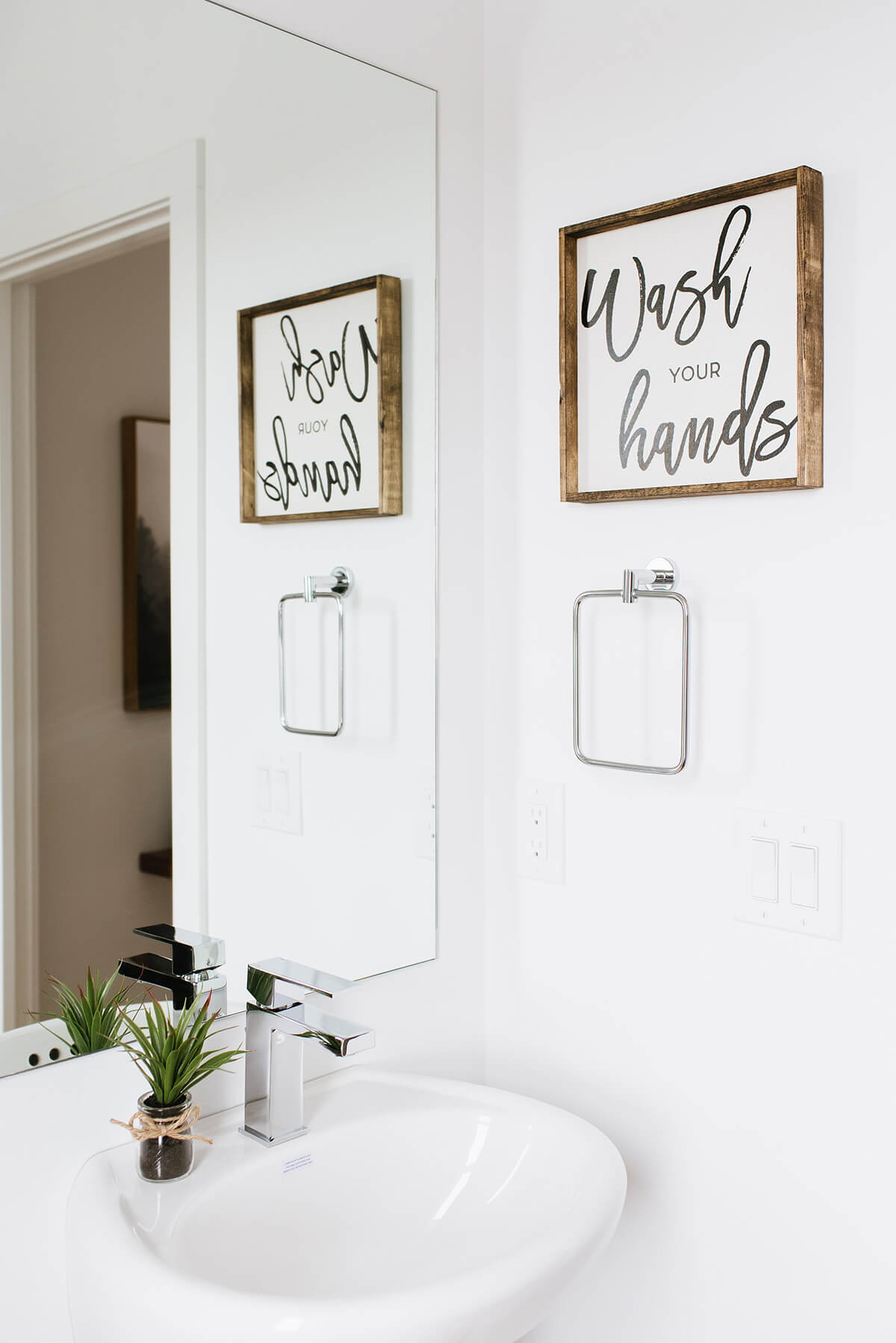 Hand Lettered Wash Your Hands Sign