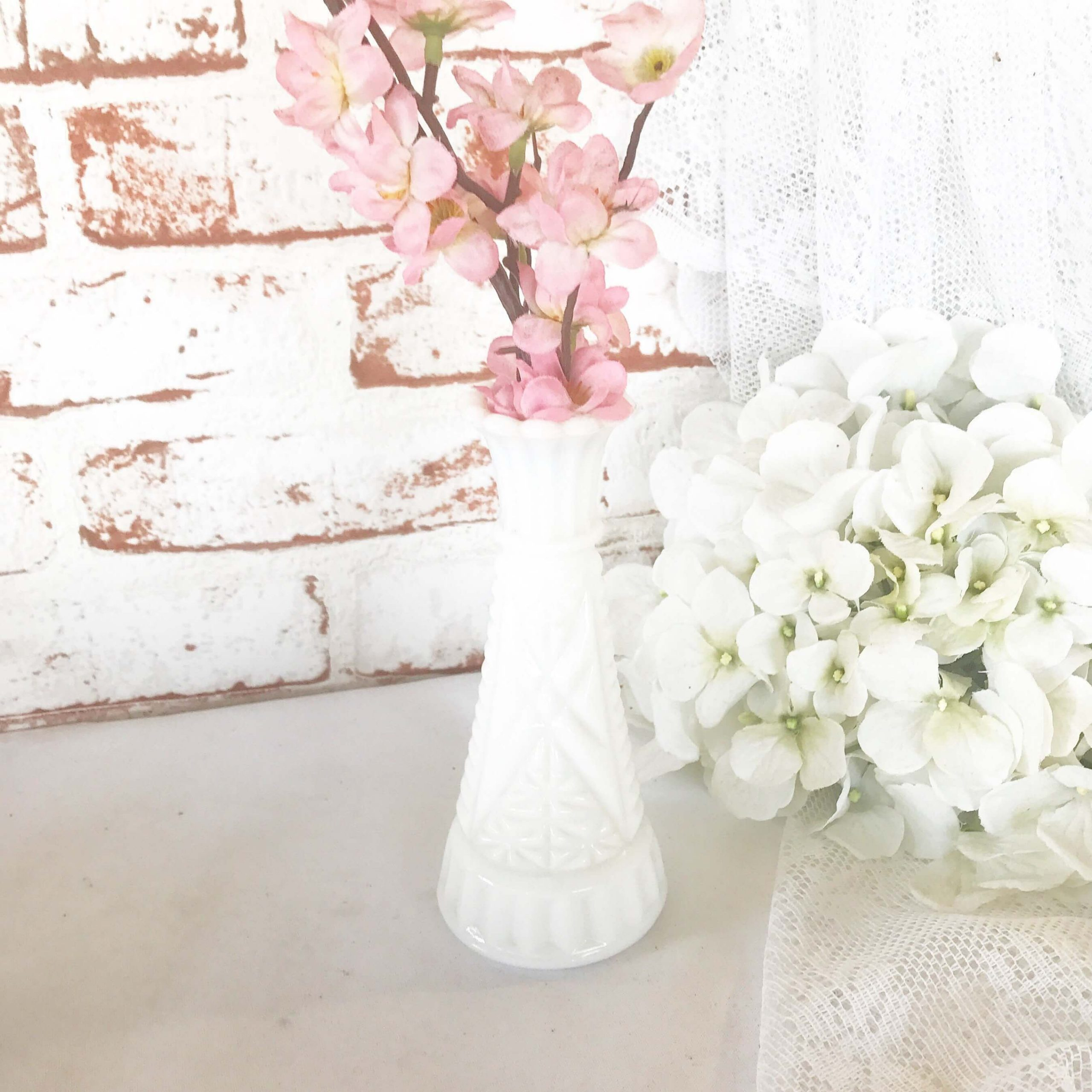 White Antique Vase with Color