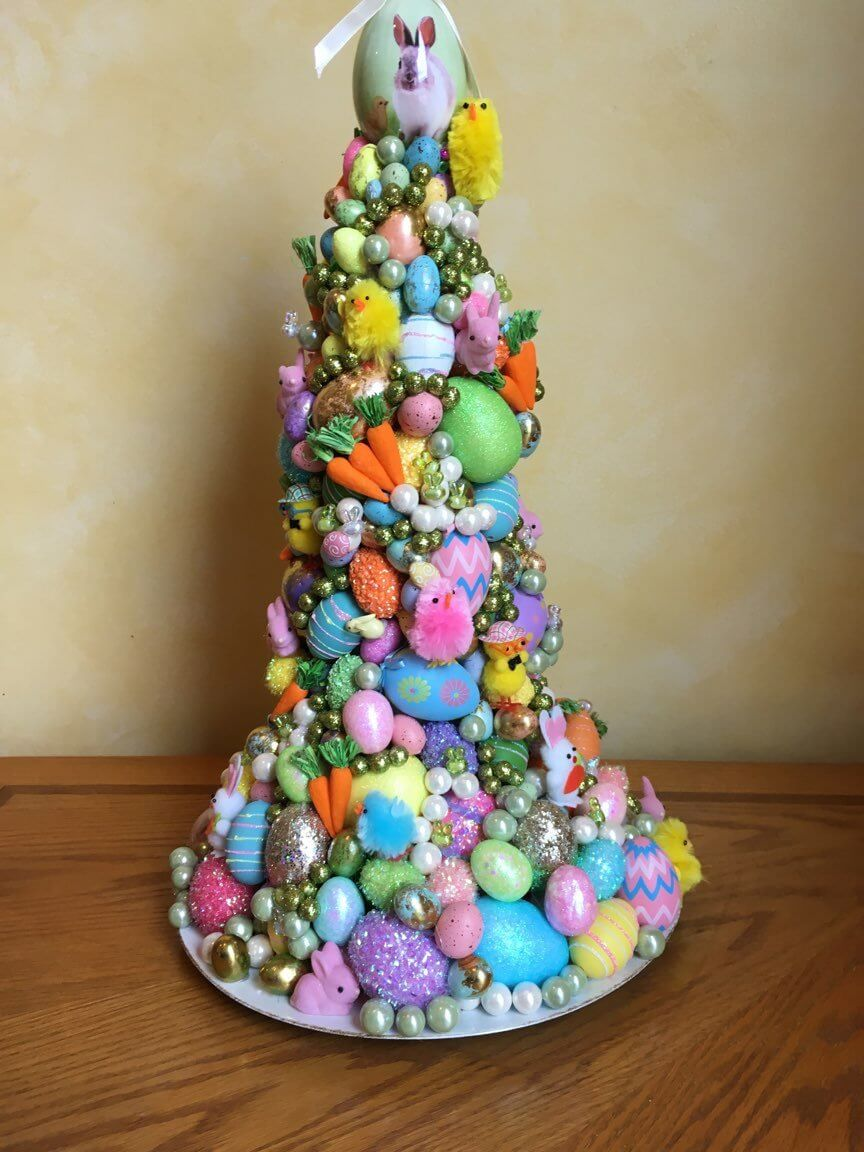 An Eggceptional Easter Egg Tree Display