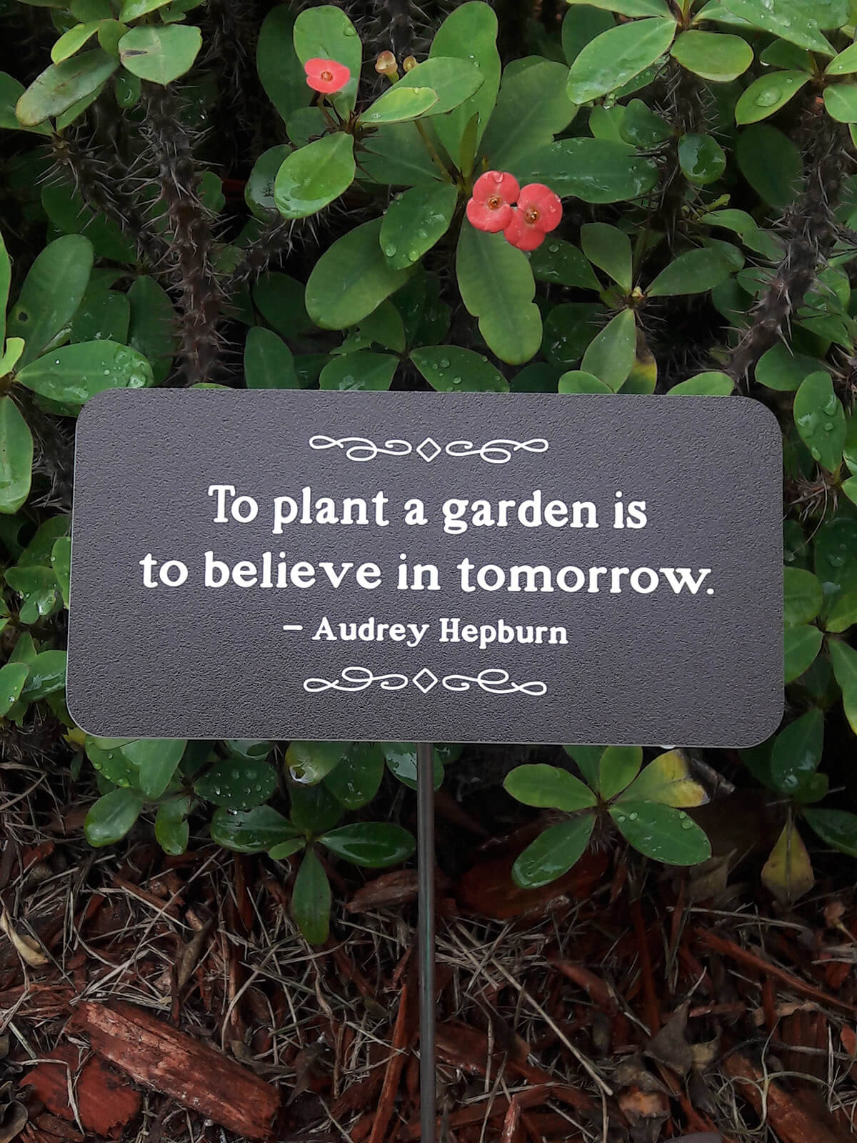 Metal Quote Garden Sign