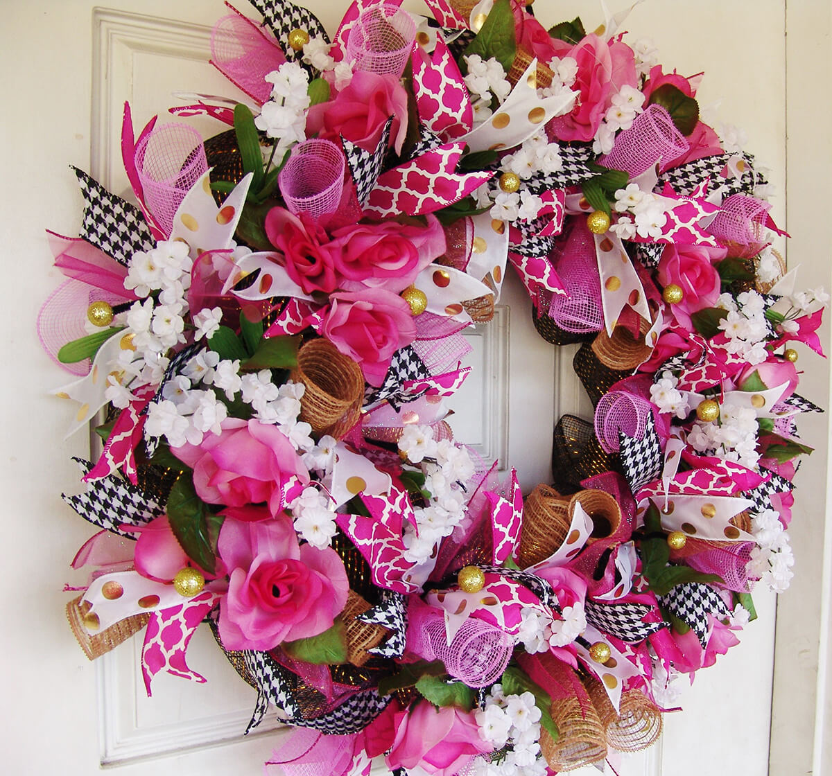 Rose Ribbons and Pink Roses